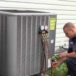 Maryland repairman fixes an air conditioner