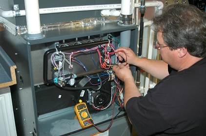 Heating installation conducted by a serviceman in Glen Burnie, MD