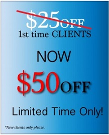 $50 off for all new customers!!